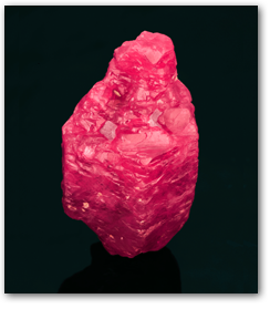 Pala International - double-terminated ruby crystal from Mogok