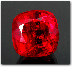 Pala International - A faceted Burmese ruby, 12.20 cts.,exhibits exquisitely vibrant color
