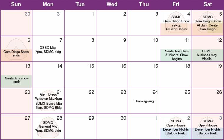 Event Calendar 2016 : Sdmg calendar of events and shows