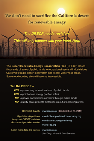 DRECP poster - We don't need to sacrifice the California desert for renewable energy